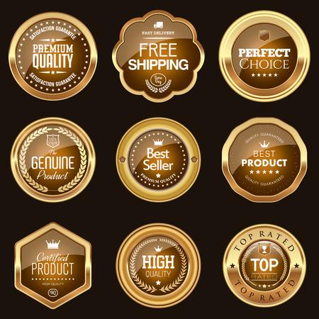 Aantal bruine badges