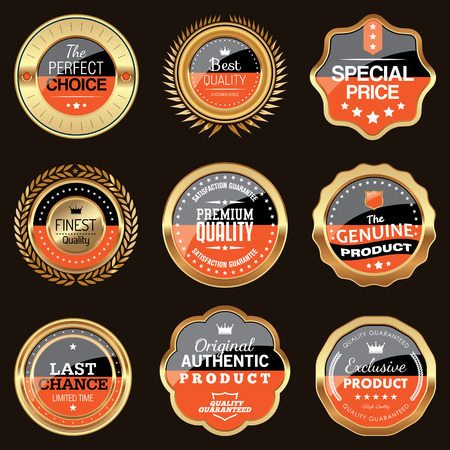 quality guarantee: Set of two colors luxury badges