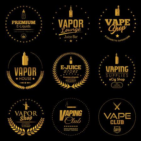 Set of vapor banners Ilustracja