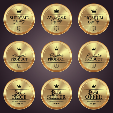 Golden badge collection