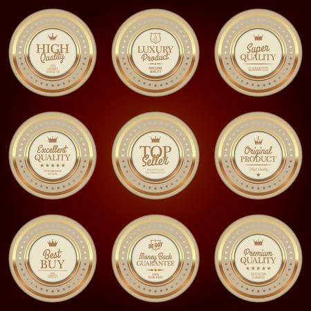 Set di distintivi di lusso Archivio Fotografico - 82896830