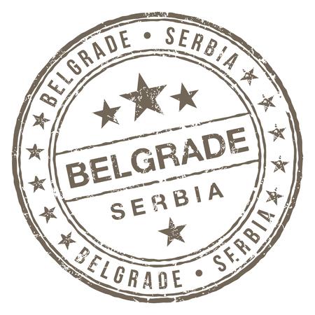 Circular shaped rubber stamp Belgrade Serbia.