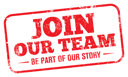 Join our team stamp. Illustration
