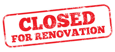 Closed For Renovation Stamp