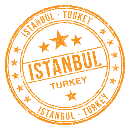 Istanbul Turkey Stamp Illustration