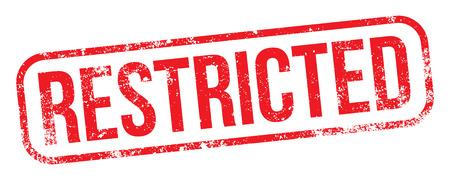 Restricted stamp Ilustração