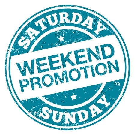 Weekend promotion stamp.