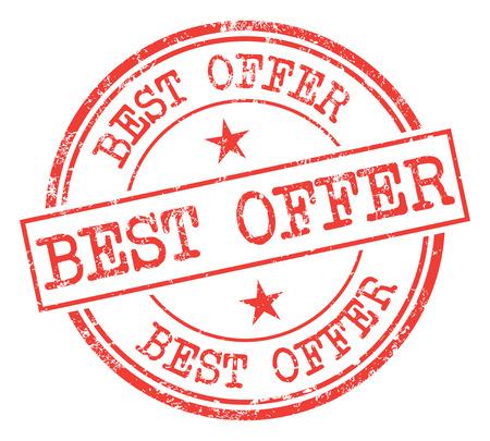 Best Offer Stamp Reklamní fotografie - 86301843