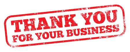Thank You For Your Business Stock Illustratie