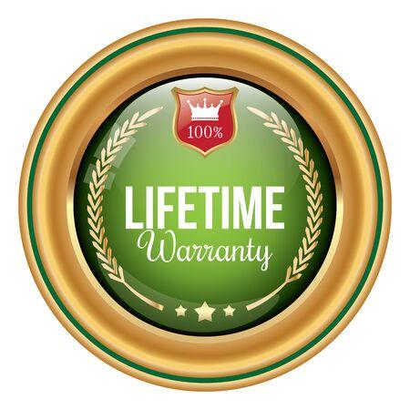 Lifetime Warranty Badge Stock Vector - 86371554