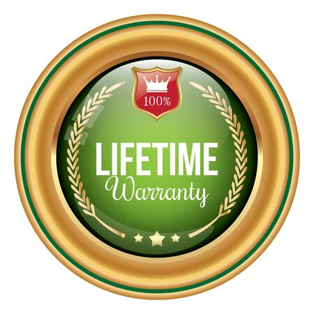 Lifetime Warranty Badge Illustration
