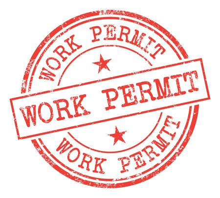 seal of approval: Work Permit Stamp Illustration