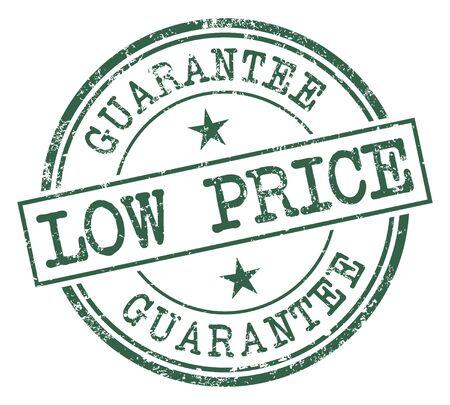 Low Price Guarantee stamp Ilustrace