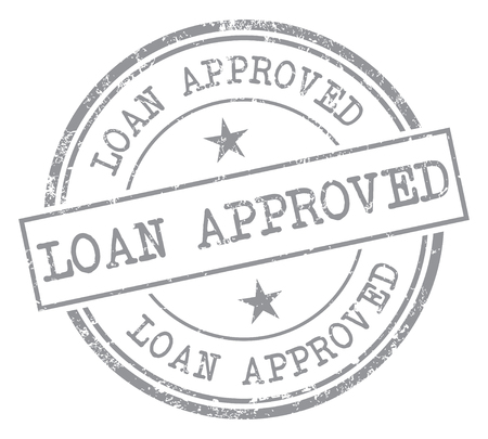 seal of approval: Loan Approved Rubber Stamp