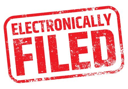 Electronically Filed Stamp vector illustration.