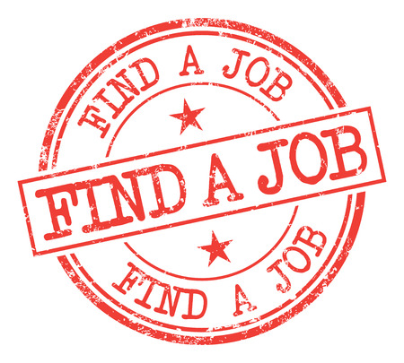 Find A Job Stamp Illustration