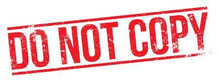 Do Not Copy Stamp Ilustrace