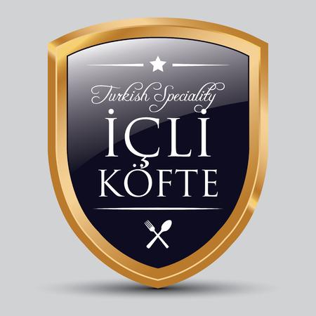 Turkish Food Icli Kofte (Meatball) Badge