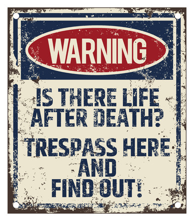 Trespass Warning Board Illustration