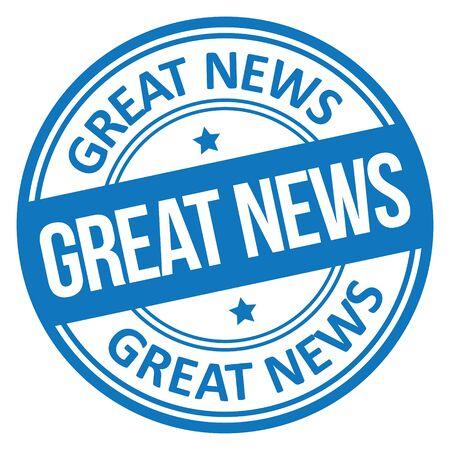 Great News Stamp Stock Illustratie