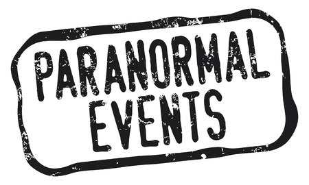 Paranormal Events Stamp in a rectangular design with black grunge letters, isolated on white