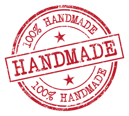 100% Handmade Stamp Vector illustration.