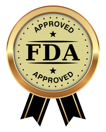 FDA Approved Badge Vector illustration. Vectores