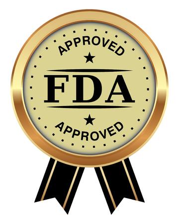 Ilustracja wektorowa odznaka zatwierdzona przez FDA.