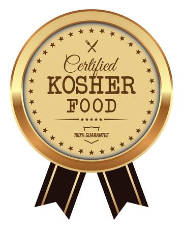 Kosher Food Badge Vector illustration. Illustration
