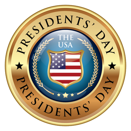 Presidents Day Badge illustration.