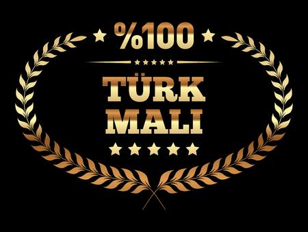 Turkish Made Banner in Turkish