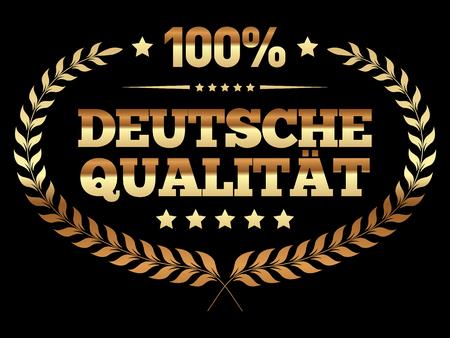 German quality banner in German language. Çizim