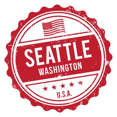Seattle Washington Stamp 일러스트