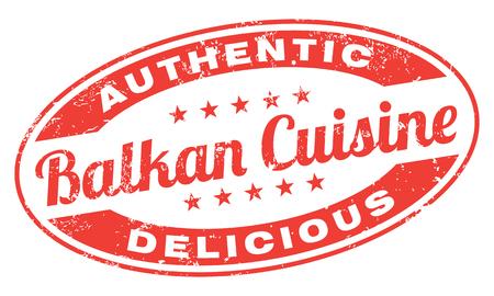 Balkan Cuisine Stamp