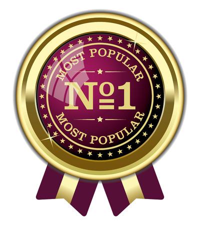 No.1 Most Popular Badge