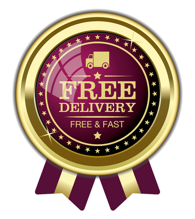 Free Delivery Badge Vectores