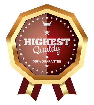 Highest Quality Badge Illustration
