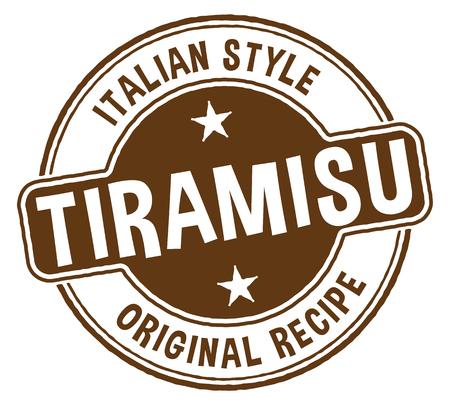 Italian Style Tiramisu Stamp