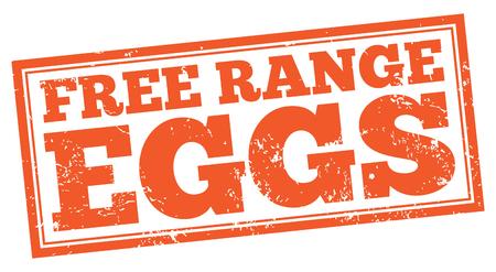 Free Range Eggs Illustration
