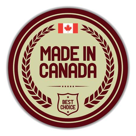 Made in Canada. Standard-Bild - 117957093