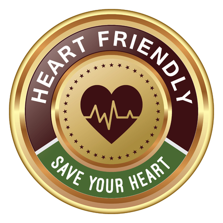 Heart Friendly Badge Ilustrace