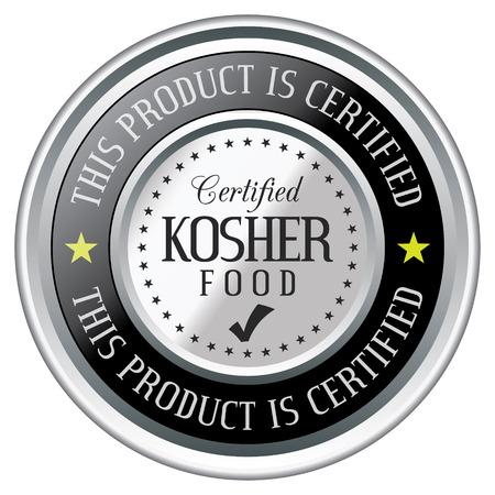 Certified Kosher Food Badge Stock Vector - 117957106