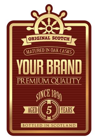 Vector Whiskey Label Ilustração