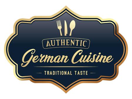 German Cuisine Label