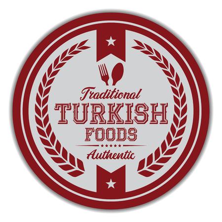 Turkish Foods Label