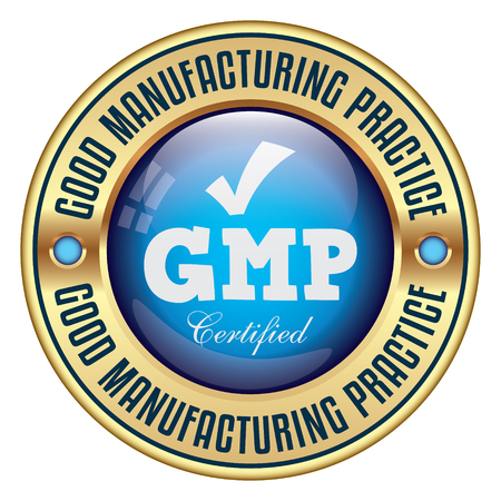GMP. Good Manufacturing Practice. Vector Badge.