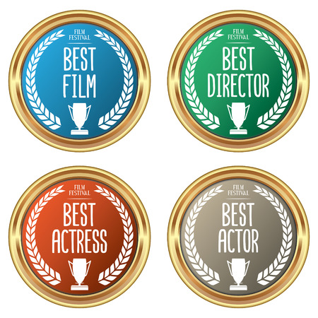 Set of Film Award Badges