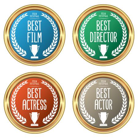 Set of Film Award Badges
