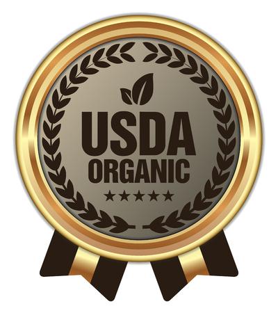 USDA Organic Badge Ilustração