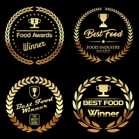 Set of Food Badges
